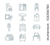 home interior icons set   Shutterstock .eps vector #526306783
