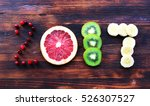 new year 2017 of fruit and... | Shutterstock . vector #526307527
