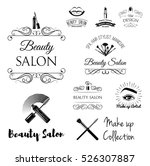 beauty salon design elements in ... | Shutterstock .eps vector #526307887