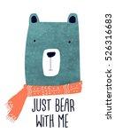 little bear head drawing for... | Shutterstock .eps vector #526316683