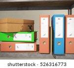 binder and folder  3d rendering