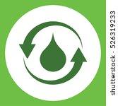 Water Drop Recicle Eco Bio...