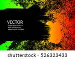 abstract grunge painted... | Shutterstock .eps vector #526323433
