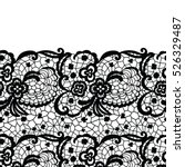 seamless lace border. vector... | Shutterstock .eps vector #526329487
