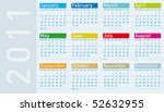 colorful calendar for year 2011 ... | Shutterstock .eps vector #52632955