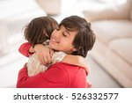brothers at home playing... | Shutterstock . vector #526332577