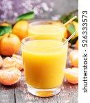 fresh citrus juice on wooden... | Shutterstock . vector #526333573