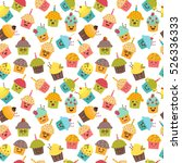 birthday background. seamless... | Shutterstock .eps vector #526336333