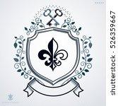 vintage emblem  vector heraldic ... | Shutterstock .eps vector #526359667