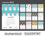 calendar 2017 starting from... | Shutterstock .eps vector #526359787