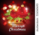 red christmas background  | Shutterstock .eps vector #526360693