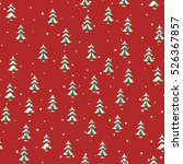 seamless christmas pattern with ...   Shutterstock .eps vector #526367857