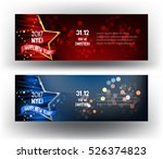 new year party banners with... | Shutterstock .eps vector #526374823