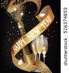 new year  background with gold  ... | Shutterstock .eps vector #526374853