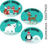 christmas animals | Shutterstock .eps vector #526375423
