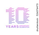 10 years anniversary with a... | Shutterstock .eps vector #526376473