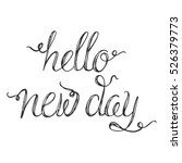 vector calligraphy.hello new... | Shutterstock .eps vector #526379773