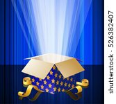 magic gift box opened with... | Shutterstock .eps vector #526382407