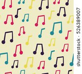 vector seamless pattern with... | Shutterstock .eps vector #526389007