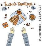 vector illustration with hands... | Shutterstock .eps vector #526397137