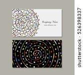 business card design  floral... | Shutterstock .eps vector #526398337