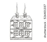 Two Story Brick House Drawing