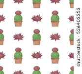 prickly cactus plant thorny... | Shutterstock . vector #526403353