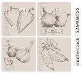 set of vegetables   paprika ... | Shutterstock .eps vector #526406533