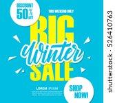 big winter sale. special offer... | Shutterstock .eps vector #526410763