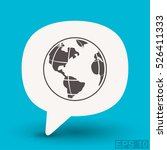 pictograph of globe | Shutterstock .eps vector #526411333