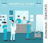 medical staff template with... | Shutterstock .eps vector #526412923
