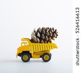 miniature car truck with wooden ... | Shutterstock . vector #526416613