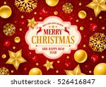 christmas greeting card with... | Shutterstock .eps vector #526416847