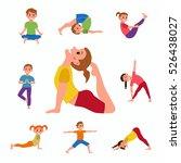 cute cartoon gymnastics for... | Shutterstock .eps vector #526438027