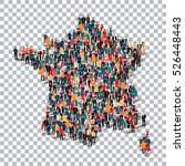 people map country france  | Shutterstock . vector #526448443