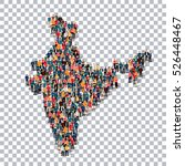 people map country india  | Shutterstock . vector #526448467