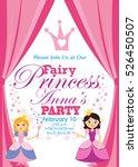 princess party invitation | Shutterstock .eps vector #526450507