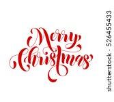 creative typography merry... | Shutterstock .eps vector #526455433