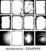 vector grunge frame | Shutterstock .eps vector #52645699