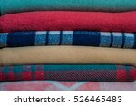 a stack of neatly folded... | Shutterstock . vector #526465483