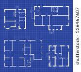 set of floor plans blueprints.... | Shutterstock .eps vector #526467607