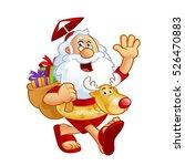 sympathetic santa claus dressed ... | Shutterstock .eps vector #526470883