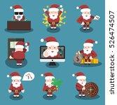 collection of vector cartoon... | Shutterstock .eps vector #526474507