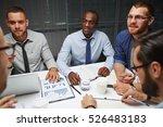 meeting of co workers   Shutterstock . vector #526483183