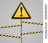caution   danger  warning sign...   Shutterstock .eps vector #526486063