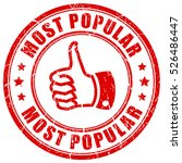 most popular rubber stamp... | Shutterstock .eps vector #526486447