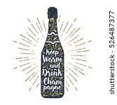 hand drawn label with textured... | Shutterstock .eps vector #526487377