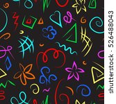 color bright doodle pattern... | Shutterstock .eps vector #526488043