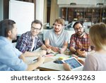 discussing creative ideas | Shutterstock . vector #526493263