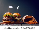 two mouth watering  delicious... | Shutterstock . vector #526497607
